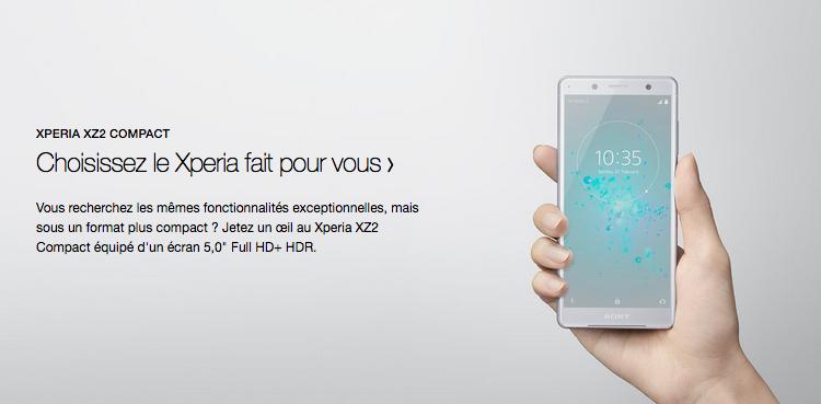 Forfaits Sony Xperia XZ2