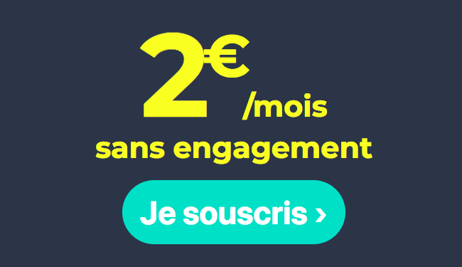 L'abonnement mobile à 2€ de Cdiscount Mobile.