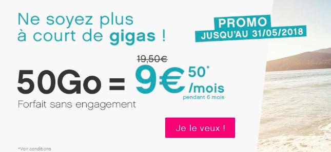 L'offre 50 Go de Coriolis Télécom.