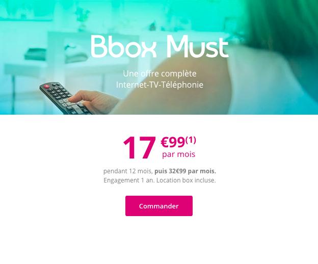 La Bbox Must de Bouygues Télécom.