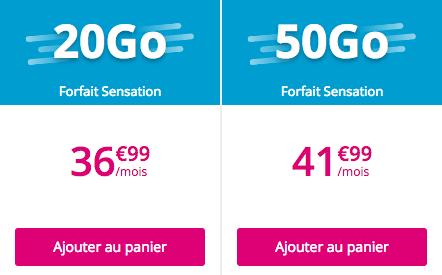 Les offres Sensation de Bouygues Télécom.