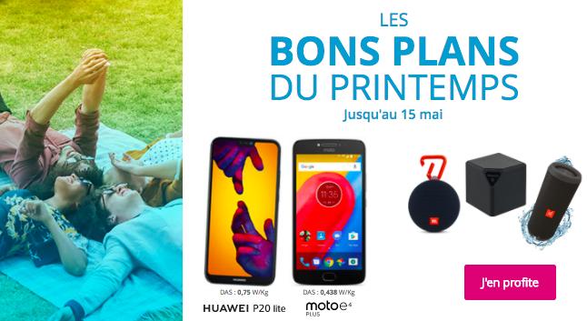 Les bons plans du printemps avec Bouygues Télécom.