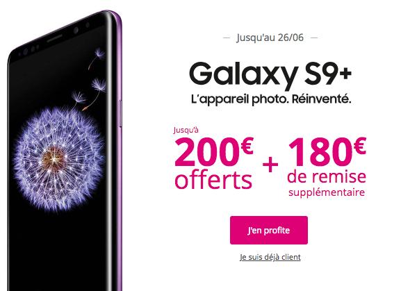Le Galaxy S9+ avec Bouygues Télécom.