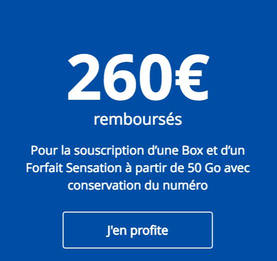 L'offre de remboursement de Bouygues Télécom.