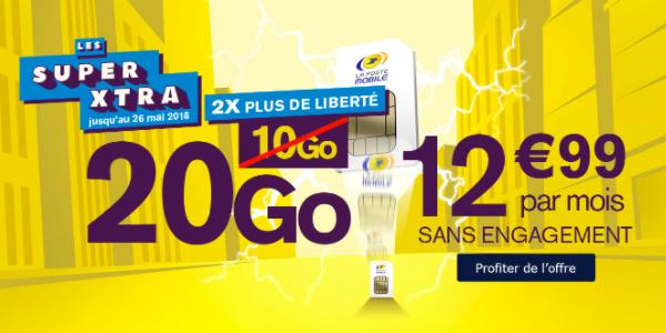 L'offre 20 Go de La Poste Mobile.