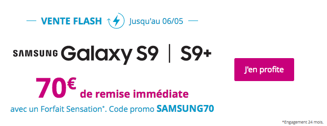 Promotion Galaxy S9 Bouygues