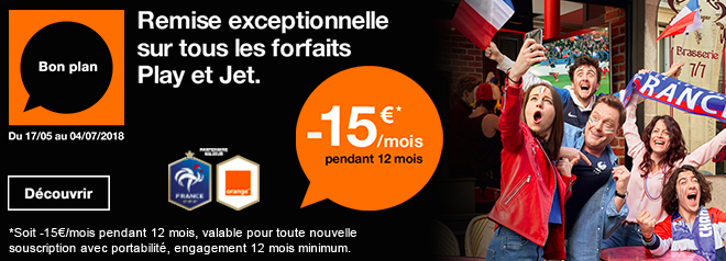 Promotion sur les forfaits Orange.