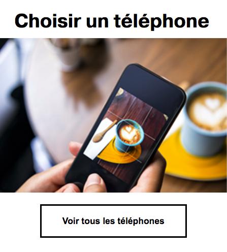 Choisir un smartphone avec Orange.