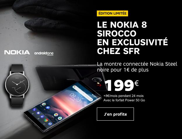 Le Nokia 8 Sirocco avec SFR.