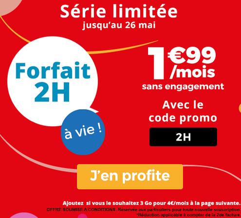 Le forfait mobile sans engagement de Auchan Télécom en promotion.