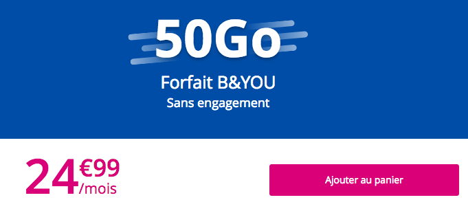 Les forfait mobiles B&YOU de Bouygues Telecom