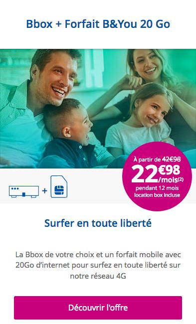 Profitez du forfait mobile de Bouygues Télécom à tarif préférentiel avec la box internet Must.