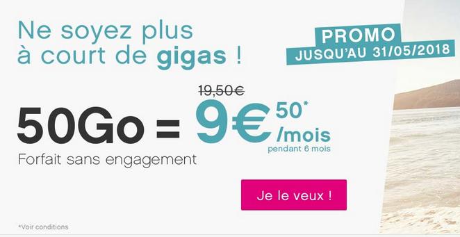 Le forfait mobile sans engagement de Coriolis Télécom est en promotion.