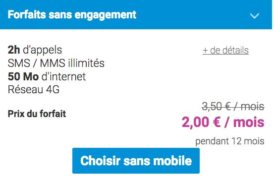 2€/mois pour ce forfait mobile en promotion chez Coriolis Télécom.