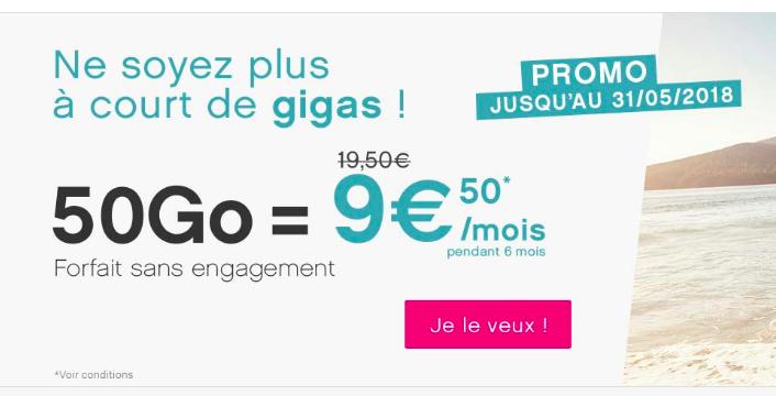 le forfait mobile en promotion de Coriolis Telecom.