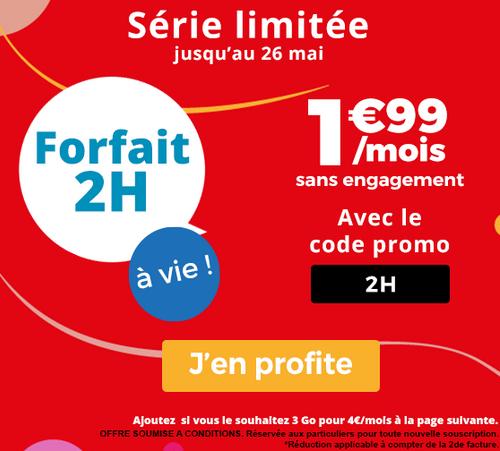 Auchan Télécom met en avant une belle promotion pour le forfait mobile doté de 2 heures d'appels.