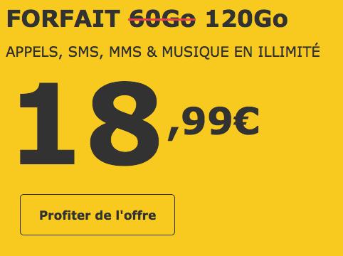 120 Go pour moins de 20€, un forfait mobile très attractif chez La Poste Mobile.