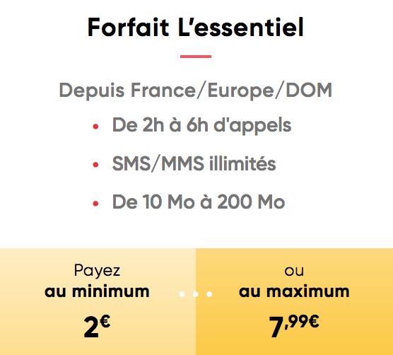 Prixtel permet d'adapter le prix du forfait mobile en fonction de sa consommation téléphonique.