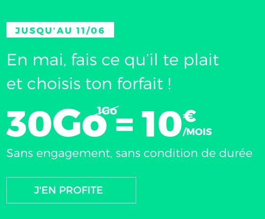 RED by SFR met en avant une belle promotion sur son forfait mobile, disponible à raison de 10€ mensuels.