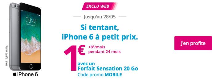 Un iPhone 6 à 1€ avec Bouygues Télécom.