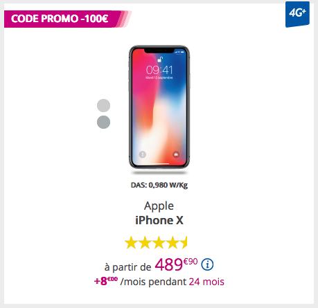 iPhone X chez Bouygues Télécom