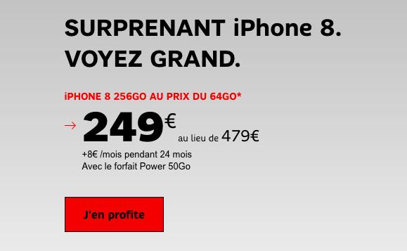 L'iPhone 8 en promotion chez SFR.
