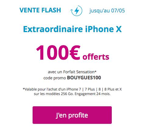 La promotion sur les iPhone chez Bouygues Télécom.