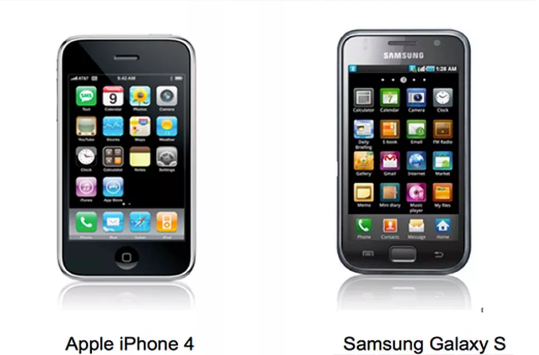 L'iPhone 4 de l'américain Apple et le Samsung Galaxy S