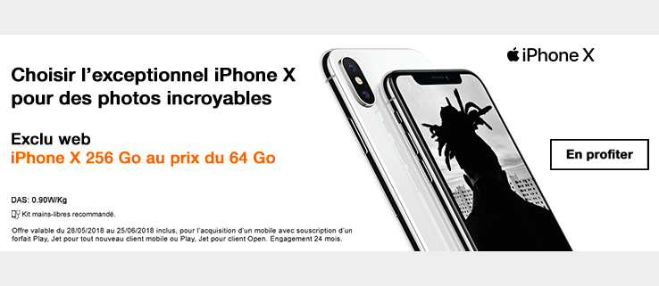 L'iPhone X est en promotion chez Orange.