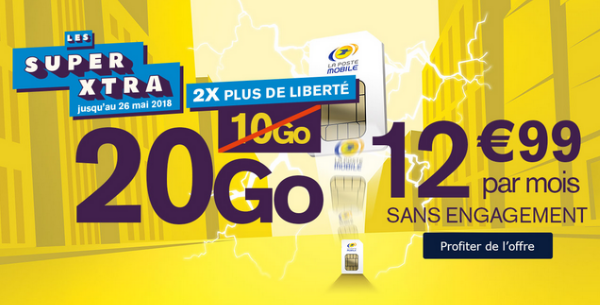Le forfait mobile de La Poste Mobile en promotion.