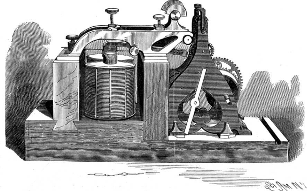 Le premier télégraphe électrique.