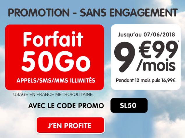 forfait mobile NRJ 50 Go