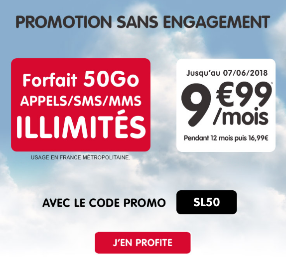 Le forfait mobile en promotion pour 9,99€/mois chez NRJ Mobile.