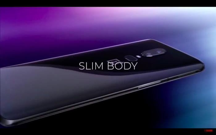 Le design du OnePlus 6 à l'arrière.