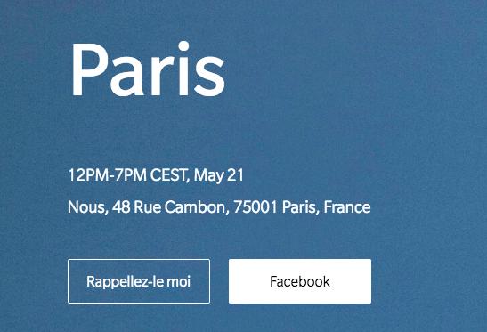 La présentation du OnePlus 6 en France, à Paris.