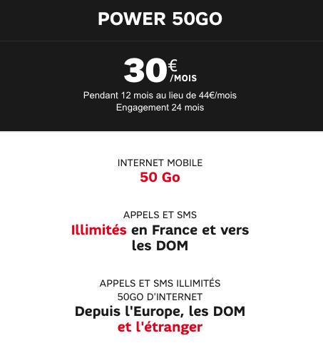 Le forfait Power 50 Go, une bonne idée pour votre téléphone.