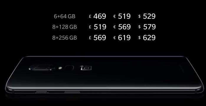 Combien coûtera le OnePlus 6 ?