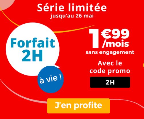 La promotion sur le forfait auchan Telecom