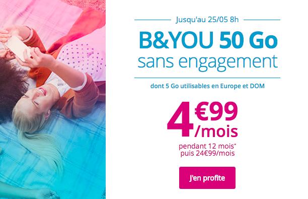 Le forfait de Bouygues Telecom en promotion.