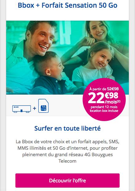 Les promotions de Bouygues Telecom sur les box internet et les forfaits mobiles.