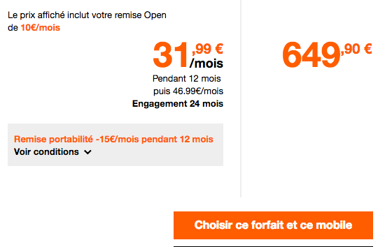 Orange propose une belle promotion sur l'iPhone X.
