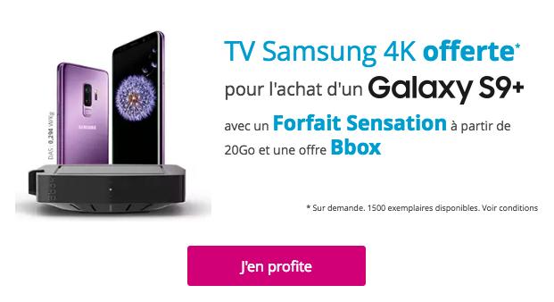 La télévision Samsung 4K offerte chez Bouygues Telecom.