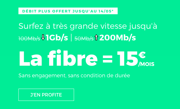 La fibre optique en promotion sur la box internet de RED by SFR.