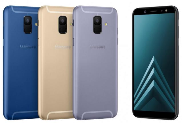 Les Galaxy A6 et A6+ de Samsung.