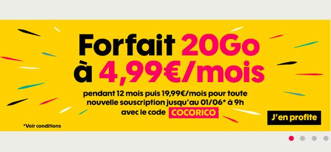 Le code promo Sosh pour profiter de la promotion sur le forfait 20 Go