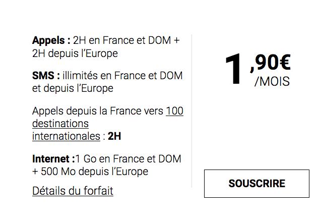 Syma Mobile et son forfait mobile disponible pour 1,90€/mois.