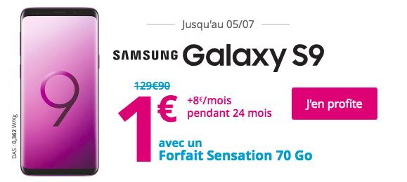 Bouygues Télécom et le Samsung Galaxy S9.