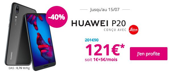 Le Huawei P20 avec Bouygues Télécom.
