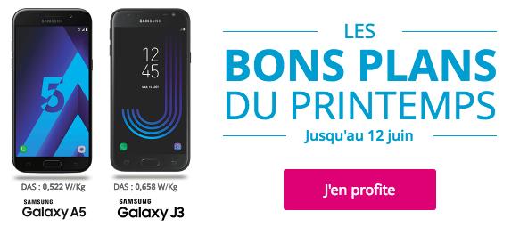 Les Galaxy J3 et A5 avec Bouygues Télécom.
