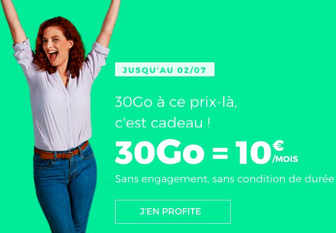 Le forfait 30 Go de RED by SFR.